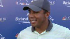 Jhonattan Vegas en Barbasol (cortesía pgatour.com)