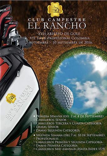 Faltan pocos días para el inicio de El Abierto de Golf Club Campestre Rancho