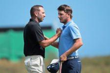 Sergio Garcia y Emiliano Grillo (cortesía Chris Condon / PGA TOUR/IGF)