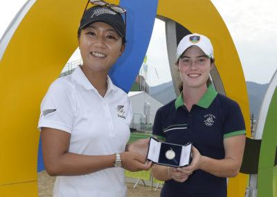 Lydia Ko y Leona Maguire (cortesía Stan Badz/PGA TOUR/IGF)