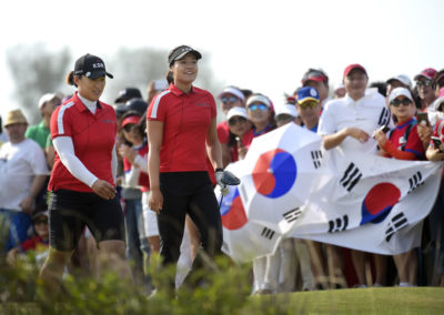 Amy Yang e In Gee Chun de Corea del Sur (cortesía Stan Badz/PGA TOUR/IGF)