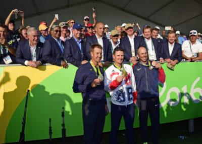 Los medallistas olímpicos (Photo Chris Condo//PGA TOUR/IGF)