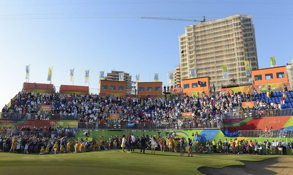 Golf Olímpico medallista en la televisión