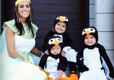 Esposa e hijos de Luke Donald (cortesía Twitter)