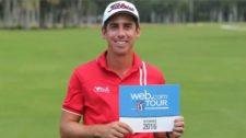 Cazaubón fue el primer jugador en lograr tres victorias en una temporada PGA LA (cortesía PGATOUR.com / Enrique Berardi)