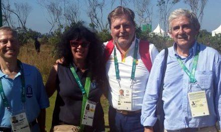 Realeza y políticos también se acercan al golf olímpico