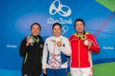 Lydia Ko, (Plata), Inbee Park, (Oro) y Shanshan Feng, (Bronce) (cortesía Tristan Jones/IGF)