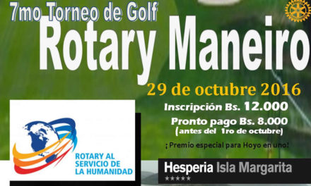 7º Torneo de Golf, a beneficio del Rotary Club Maneiro