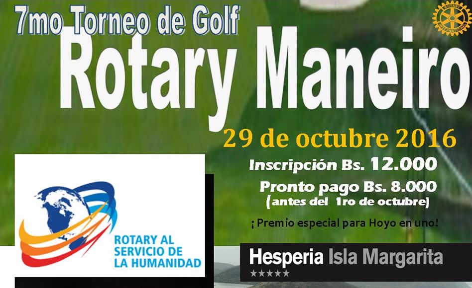 7º Torneo de Golf, a beneficio del Rotary Club Maneiro