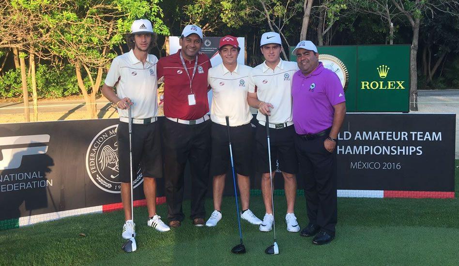 Los caballeros listos para el World Amateur Team Championship (cortesía Cortesía Alexander Capetillo)