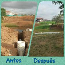 Antes & Después rough tomando forma en el Hoyo 1 - CG de Panamá