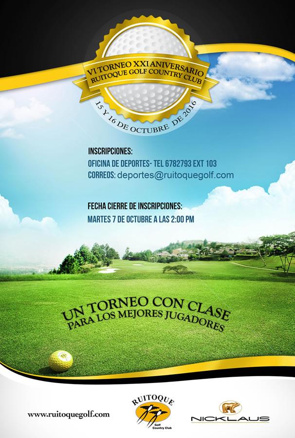 VI Torneo XXI Aniversario Ruitoque Golf Country Club