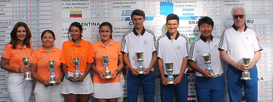 Argentina y Colombia triunfaron en el Prejuvenil de Golf