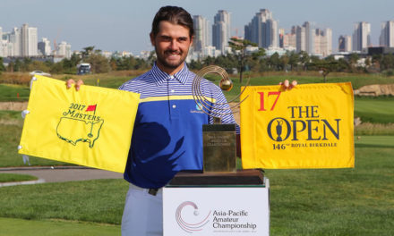 Curtis Luck fue implacable en Corea del Sur y ganó el Asia-Pacific Amateur Championship
