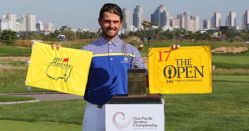 Curtis Luck fue implacable en Corea del Sur y ganó el Asia-Pacific Amateur Championship