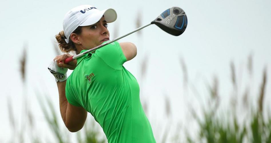 Gaby López y Mariajo Uribe tuvieron un complicado comienzo en el Blue Bay LPGA