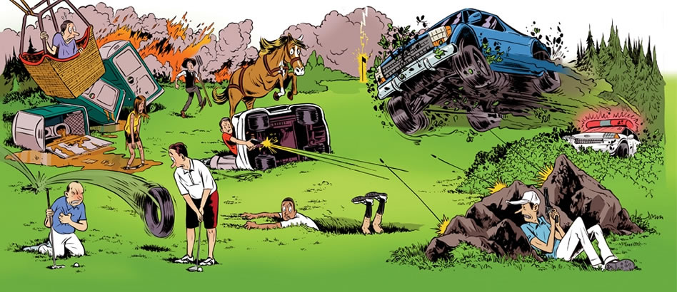 Las historias más rocambolescas de los campos de golf