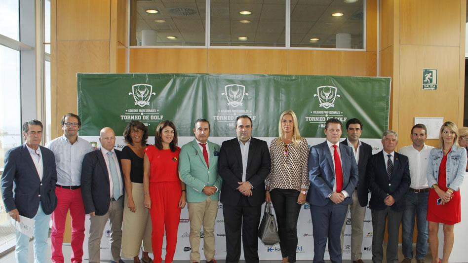 """Presentación oficial del """"I Torneo de Golf Colegios Profesionales de Málaga"""" en Diputación de Málaga"""
