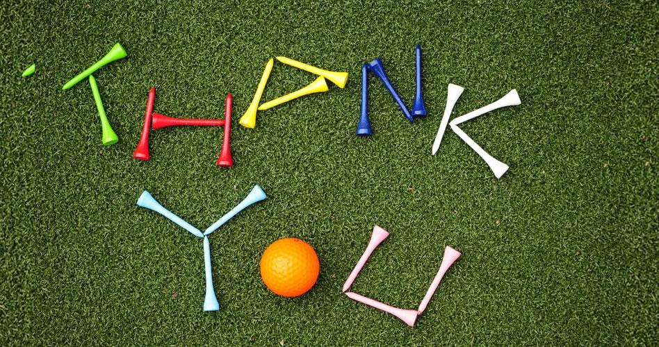 Agradecer es de genuinos amantes de golf