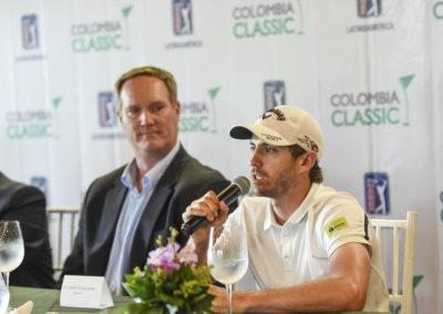 Andrés Echaverría en Rueda de Prensa Previa (cortesía Enrique Berardi/PGA TOUR)
