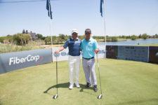 Los jugadores del PGA TOUR, Andrés Romero y Fabián Gómez durante el Pro-Am del Andrés Romero Invitational, que se disputó este jueves 1 de diciembre en el Buenos Aires Golf Club / Foto: Crédito Olivia Calatayud