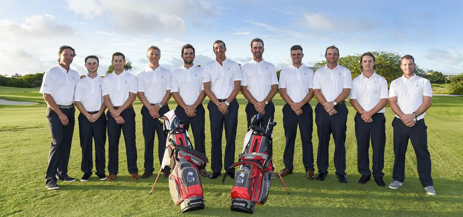 ARUBA - DIC. 14, 2016: Este es el equipo del Mackenzie Tour - PGA TOUR Canada que disputará la edición inaugural de la Aruba Cup a partir de este jueves en Tierra del Sol Resort & Golf. (Enrique Berardi/PGA TOUR)