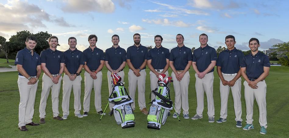 ARUBA - DIC. 14, 2016: Este es el equipo del PGA TOUR Latinoamérica que disputará la edición inaugural de la Aruba Cup a partir de este jueves en Tierra del Sol Resort & Golf. (Enrique Berardi/PGA TOUR)