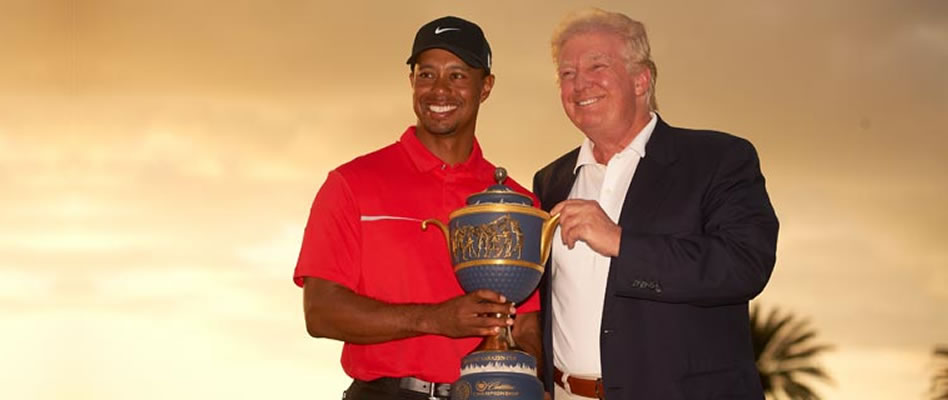 Donald Trump y Tiger Woods, un enfrentamiento con morbo