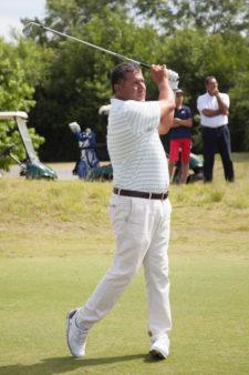 Ricardo González, jugador del European Tour, durante la primera ronda del Andrés Romero Invitational / Foto: Crédito Olivia Calatayud