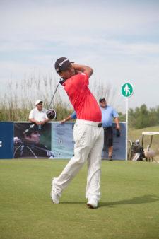 Fabián Gómez, jugador del PGA TOUR, durante la primera ronda del Andrés Romero Invitational / Foto: Crédito Olivia Calatayud