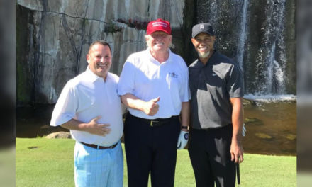 Tiger y Trump juegan en Florida