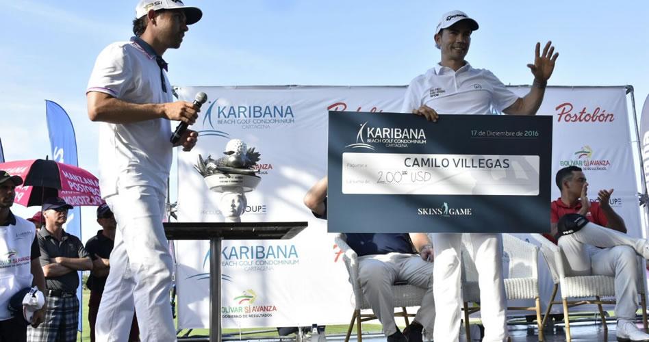 Villegas supera a Els, Cabrera y Muñoz en el desafío del Skins Game 2016 en Karibana