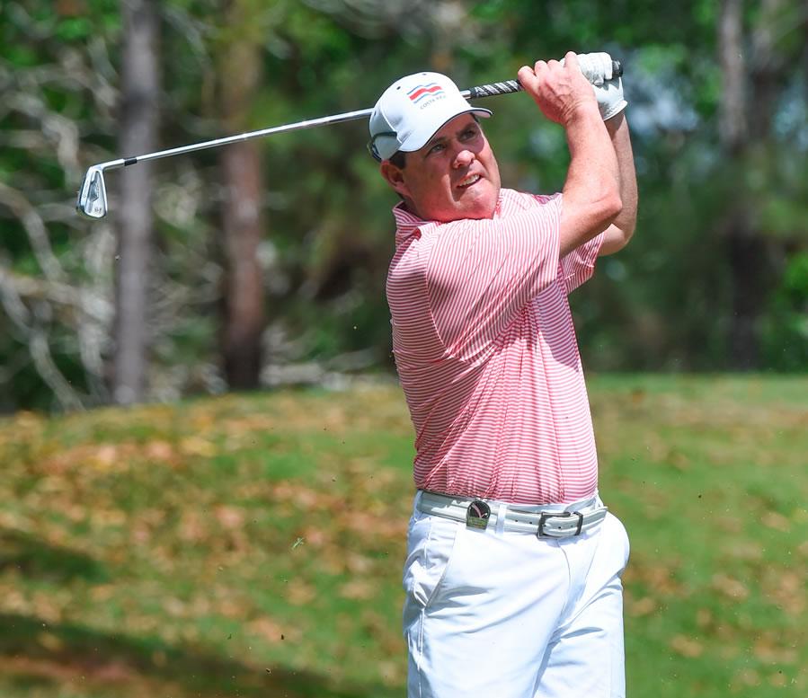 Álvaro Ortiz (GUA) es el nuevo líder del LAAC en el Club de Golf de Panamá. / Foto: Gentileza Enrique Berardi/LAAC.