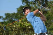 El chileno Joaquín Niemann, el mejor latinoamericano del World Amateur Golf Ranking, durante la ronda de práctica / Foto: Gentileza Enrique Berardi/LAAC)
