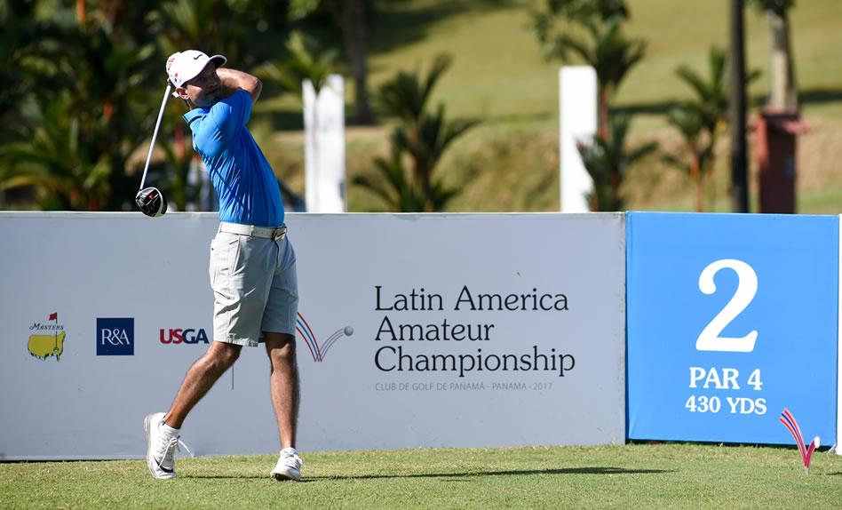 Miguel Ordóñez (PAN) es la esperanza local en el Latin America Amateur Championship 2017. / Foto: Gentileza Enrique Berardi.