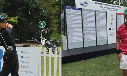 Marcos Montenegro e Isabella Fierro, los primeros líderes del Abierto Sudamericano Amateur 2017