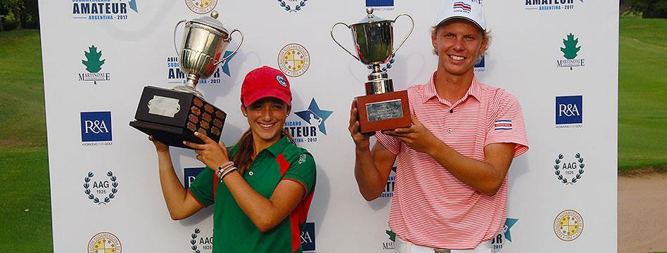 Paul Chaplet e Isabella Fierro, los campeones en el Abierto Sudamericano Amateur 2017
