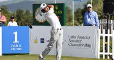 El chileno Tomás Gana comparte la punta del LAAC en el Club de Golf de Panamá. / Foto: Gentileza Enrique Berardi/LAAC.
