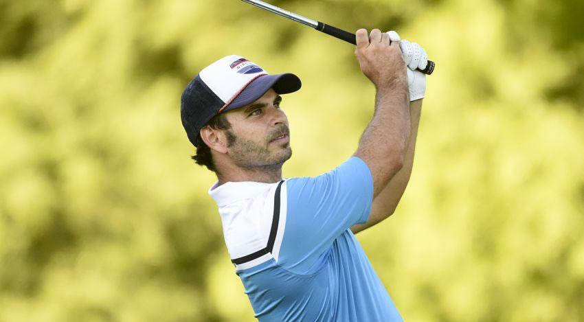 Santiago Bauni anotó siete birdies y dos bogeys para comenzar al frente en Las Praderas de Luján (Enrique Berardi/PGA TOUR)