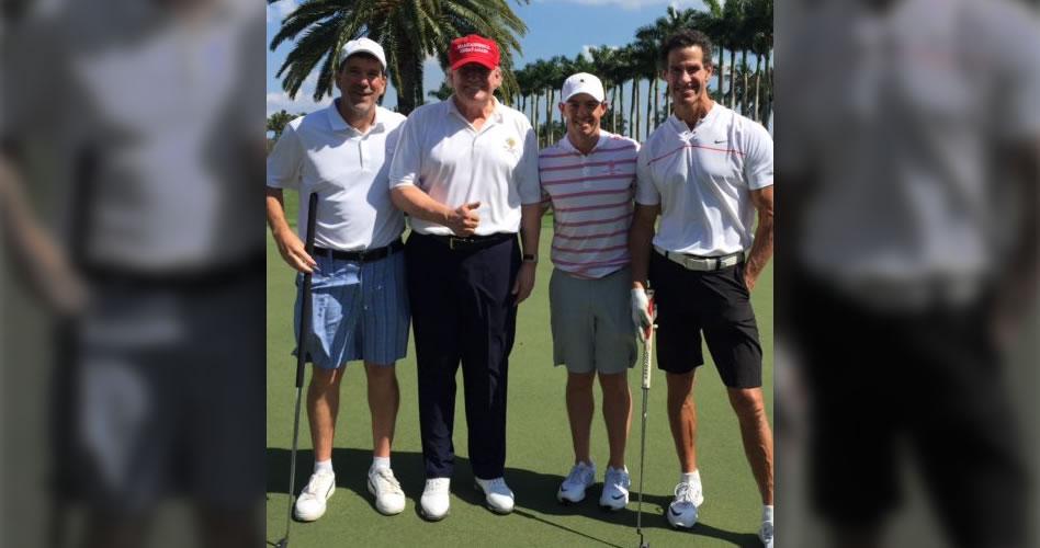McIlroy se prepara para regresar en el WGC-Mexico Championship con ronda de golf junto a Trump