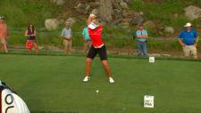 Henderson en el su 1er título major en su carrera (cortesía Golf Channel)