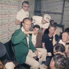 Arnold Palmer en el Media Center antes 1990 (cortesía Golf Digest)
