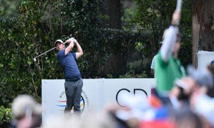 Rory McIlroy reacciona en el WGC en México