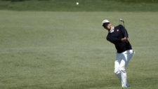Adam Scott en el hoyo No. 2 (cortesía Augusta National Golf Club)