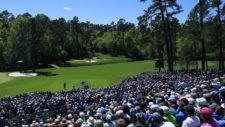 Charley Hoffman en el hoyo No. 12 (cortesía Augusta National Golf Club)