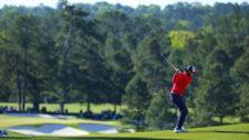 Curtis Luck en el hoyo No. 2 Augusta National Golf Club (cortesía Augusta National Golf Club)