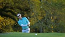 Justin Rose en el hoyo No. 18 (cortesía Augusta National Golf Club)