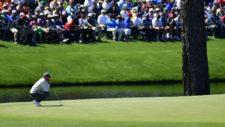 Rory McIlroy en el hoyo No. 15 (cortesía Augusta National Golf Club)