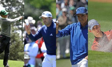 Cuatro hombres y el Masters como destino