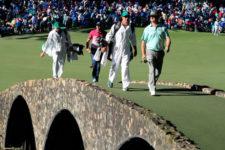 Charley Hoffman y Sergio García en la 3ra ronda (cortesía Augusta National Golf Club)